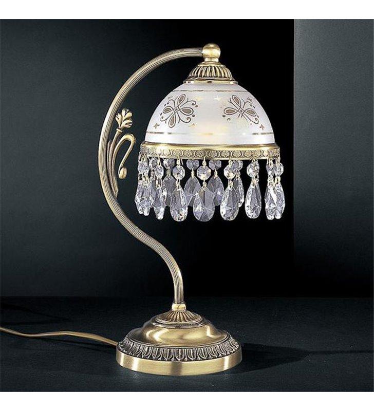 Włoska lampa stołowa Nuoro z kryształami