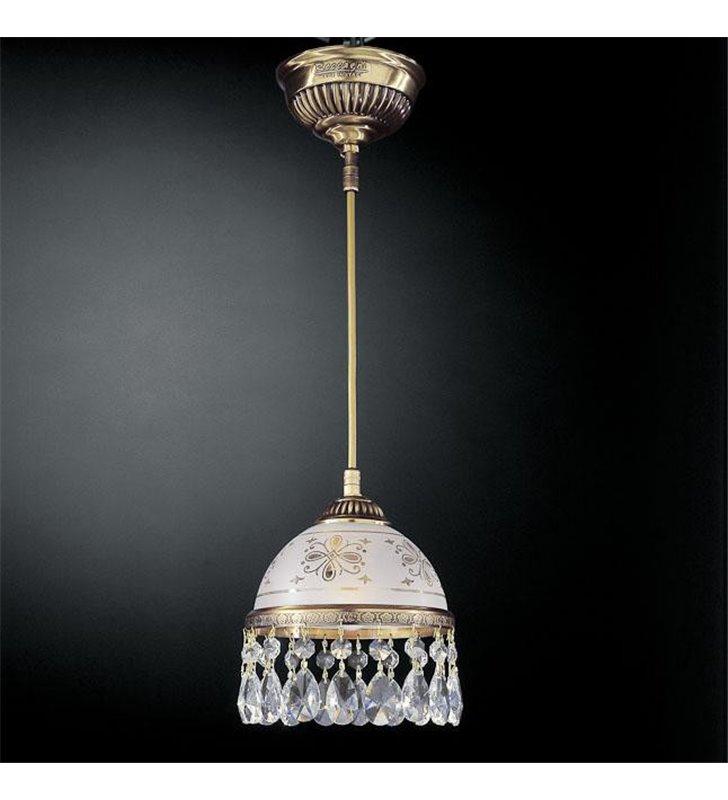 Lampa wisząca Nuoro włoska z kryształami