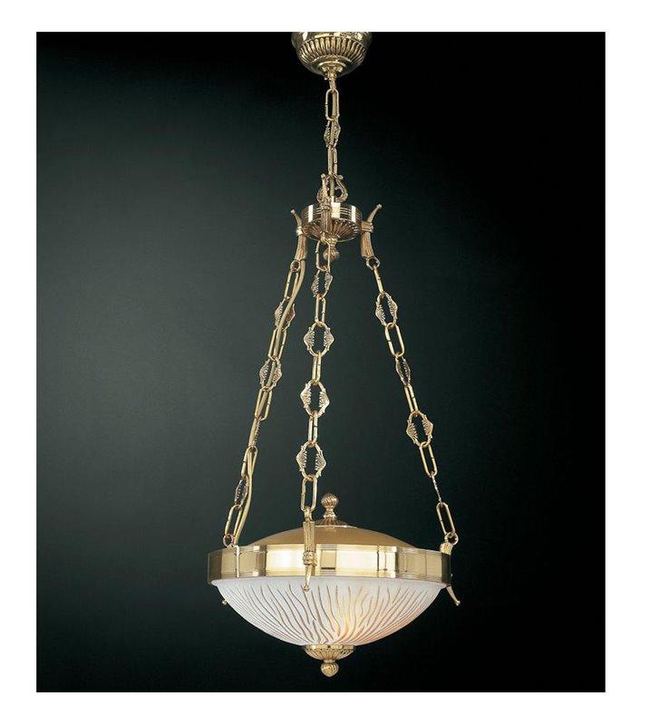 Lampa wisząca nad stół Forli złota