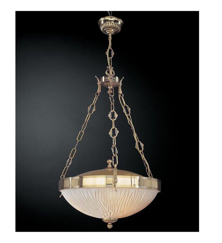 Złota ekskluzywna lampa wisząca Forli