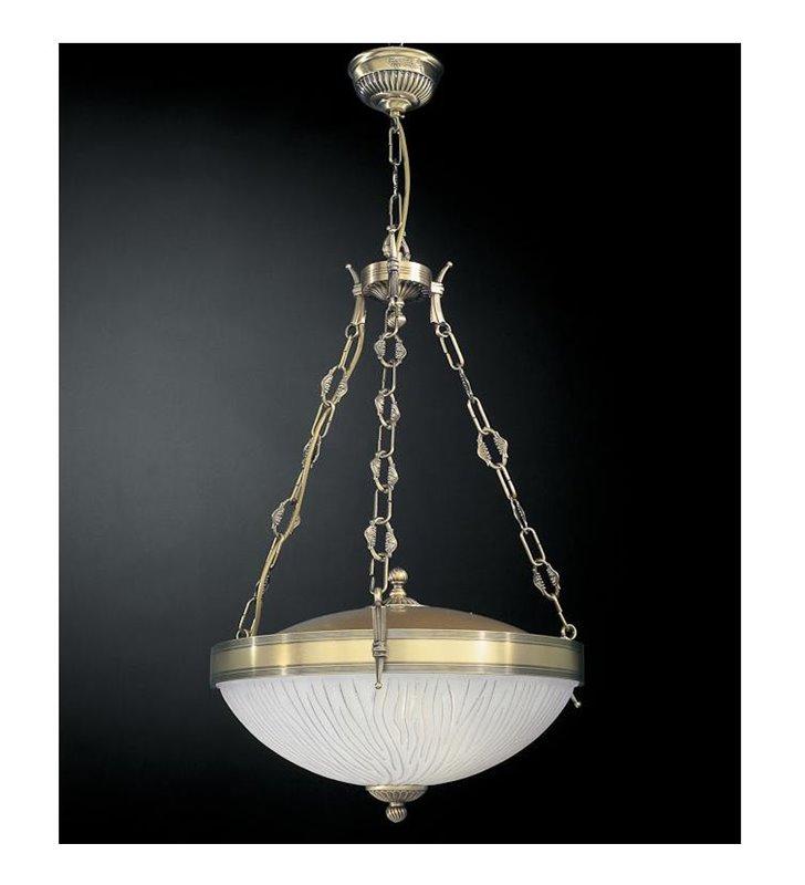 Lampa wisząca Grosseto ampla mosiądz