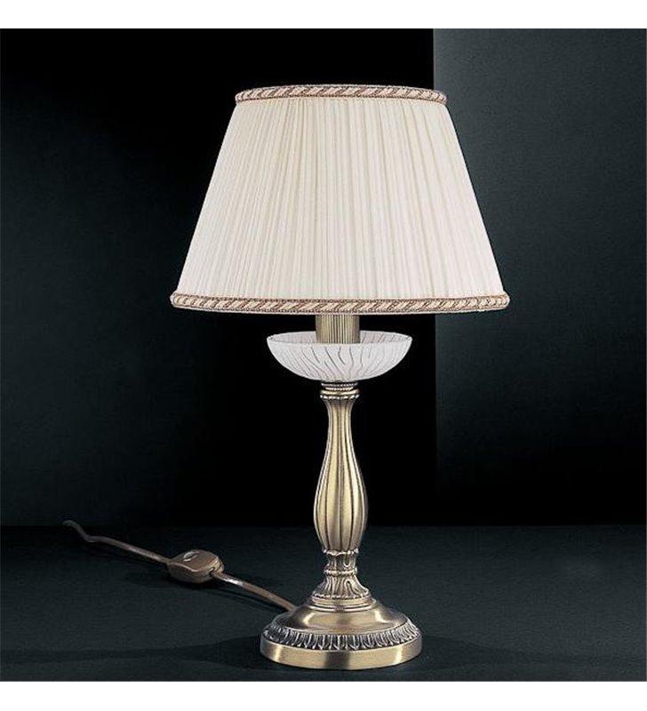 Lampa włoska z białym abażurem Mantova