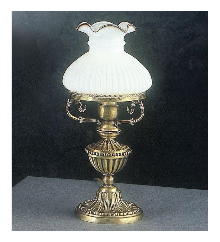 Lampa stołowa z białym kloszem Otranto