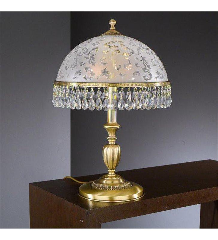 Stylowa lampa nocna z kryształkami Brugherio