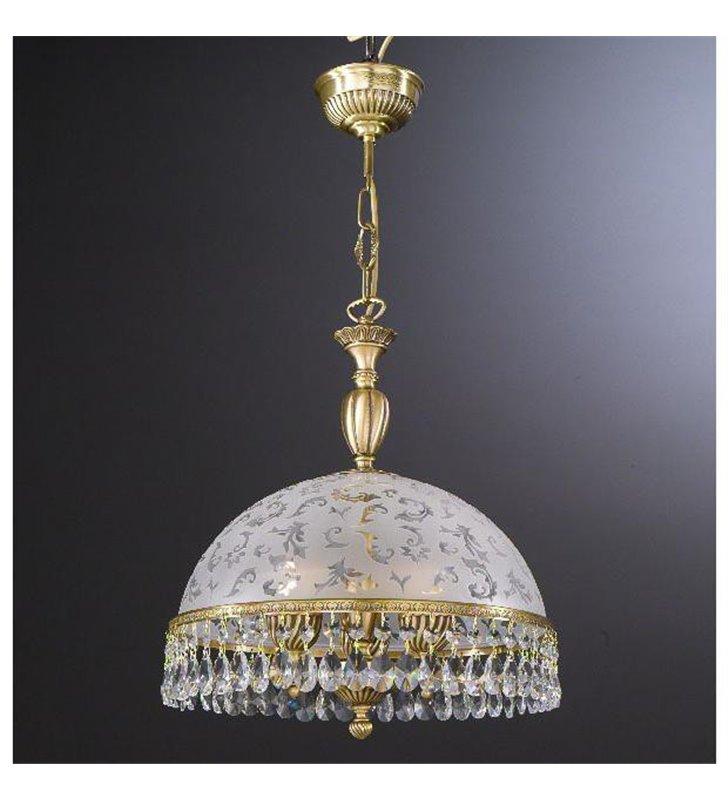 Kryształowa lampa wisząca do kuchni salonu Brugherio