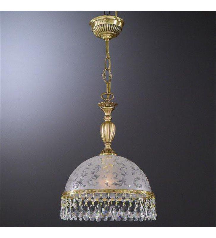 Lampa wisząca z mosiądzu Brugherio salon