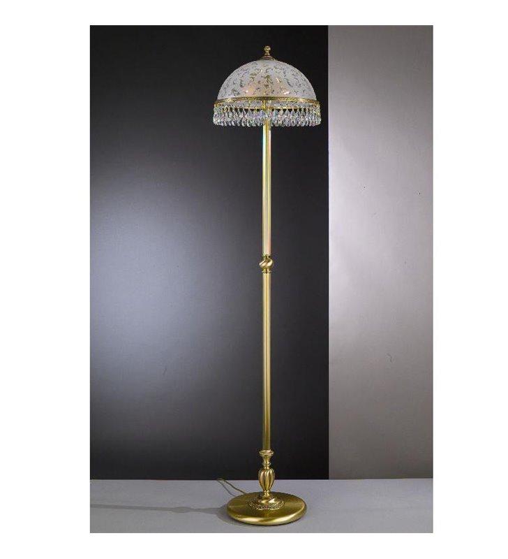 Zdobiona lampa podłogowa z kryształami Brugherio