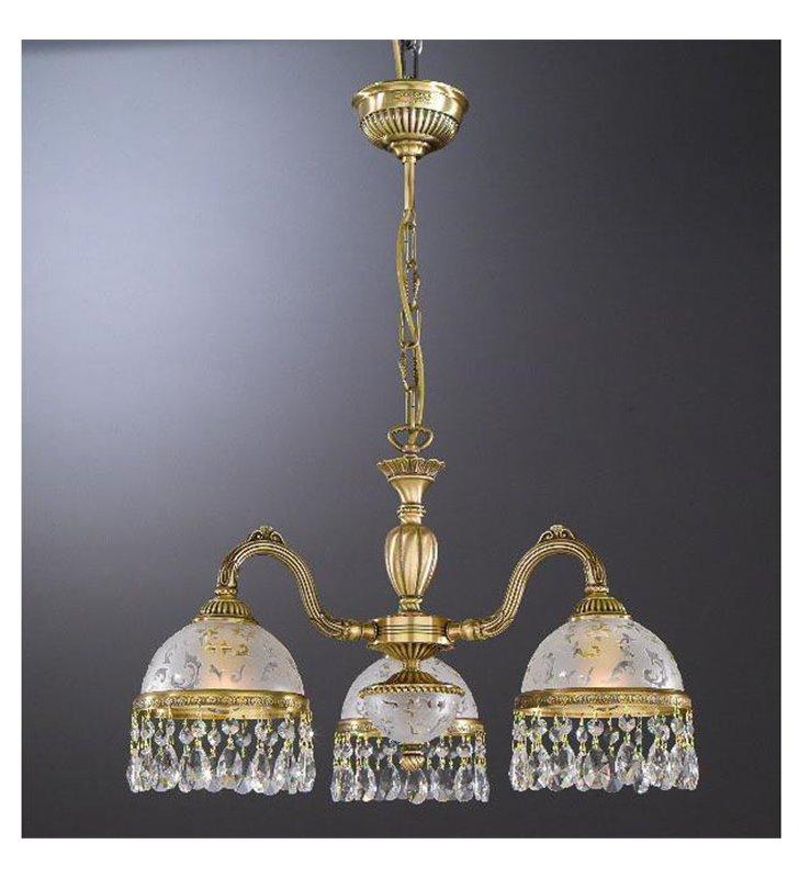 Żyrandol Brugherio kryształowy włoski klasyczny