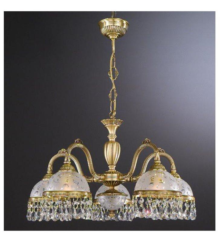 Żyrandol do salonu Brugherio pięcioramienny z kryształami