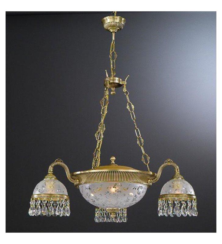 Kryształowy klasyczny żyrandol do wysokiego salonu Brugherio