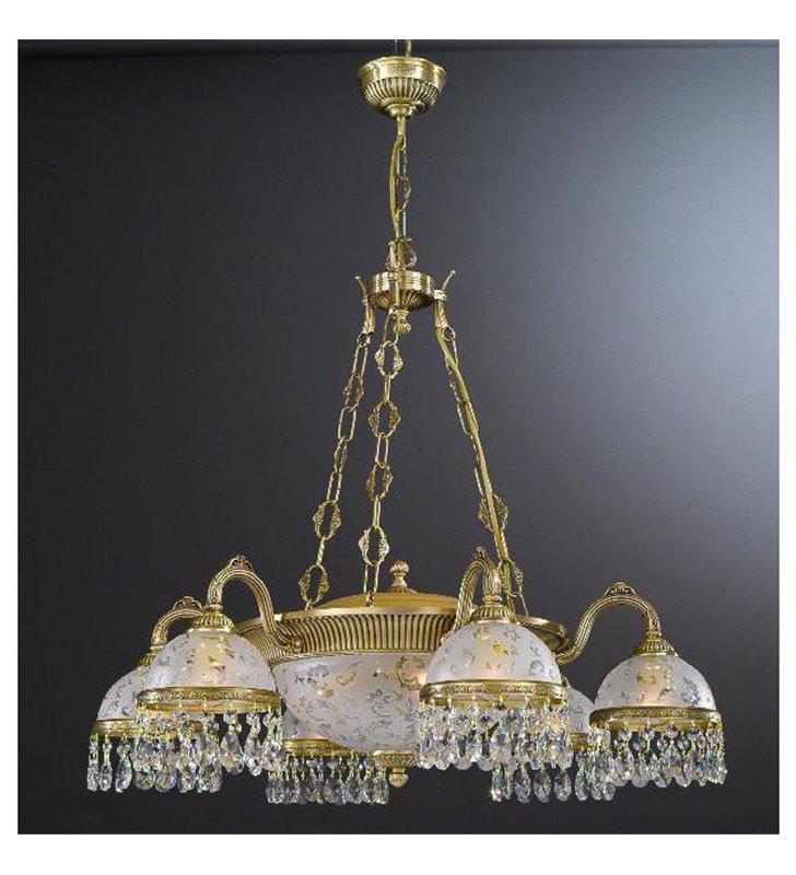 Stylowy żyrandol Brugherio kryształowa włoska lampa