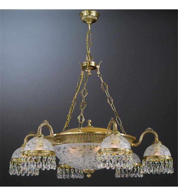 Żyrandol kryształowy do dużego salonu hotelu Brugherio
