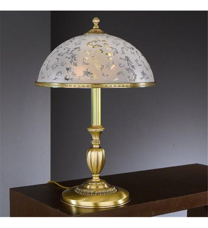 Lampa stołowa do salonu klasyczna włoska Canicatti