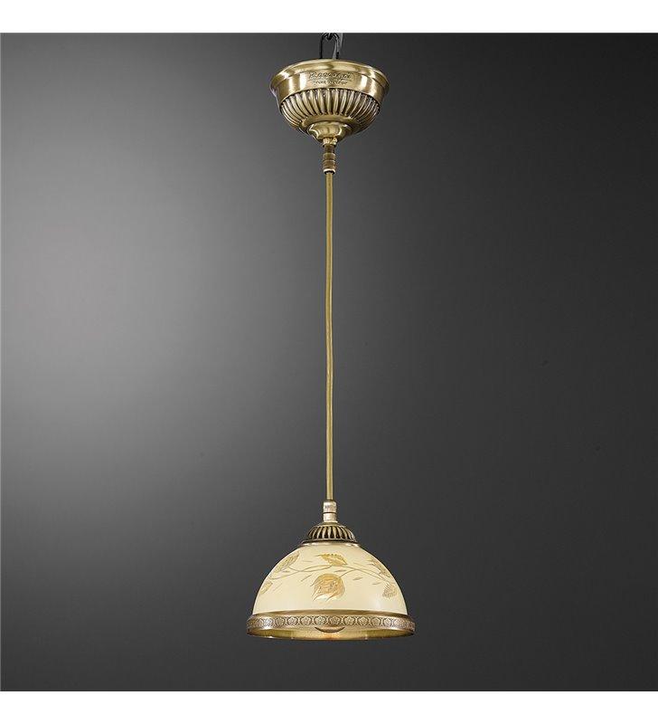 Lampa wisząca z motywem roślinnym Latina