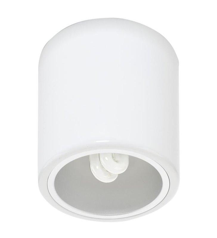 Lampa sufitowa Walec Downlight biała okrągła -DOSTĘPNA OD RĘKI