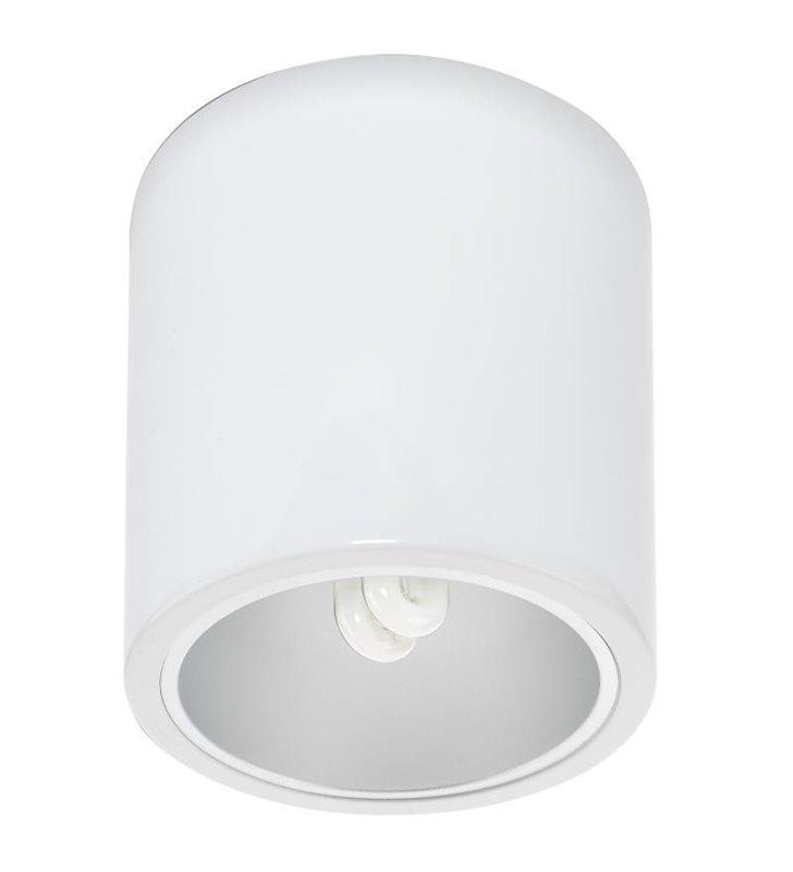 Lampa sufitowa Downlight biała okrągła w stylu technicznym industrialnym przemysłowym - DOSTĘPNA OD RĘKI