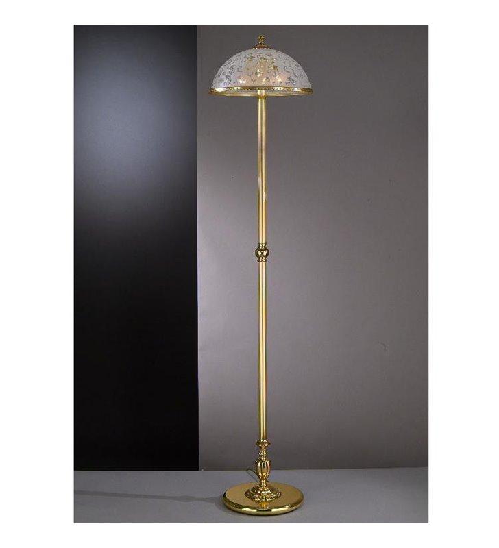 Lampa podłogowa Bollate złota