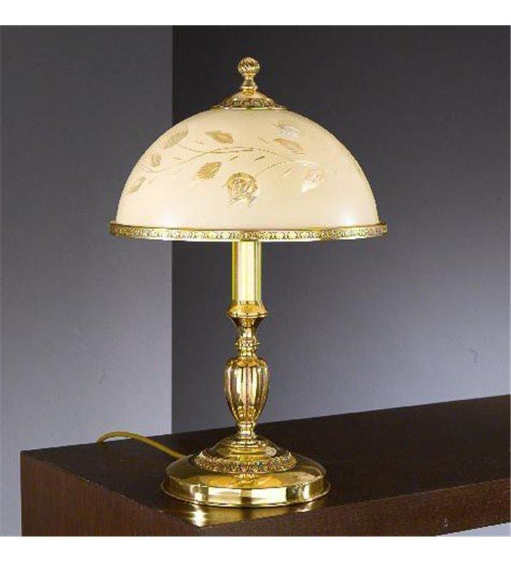 Lampa Rawenna złota włoska stołowa