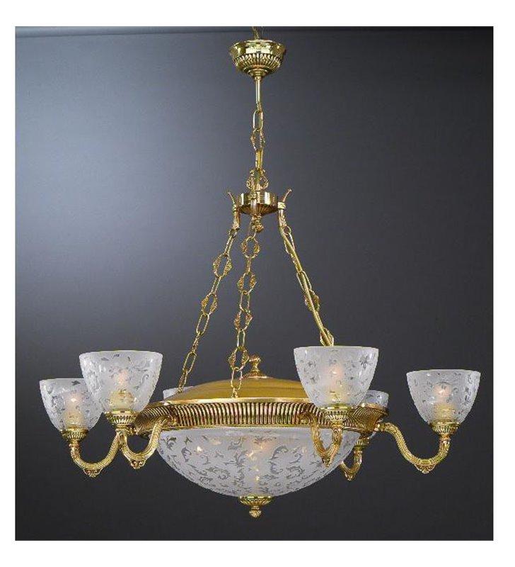 Złoty żyrandol do salonu Comiso