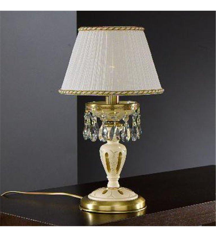Lampa stołowa Trapani ręcznie malowane drewno