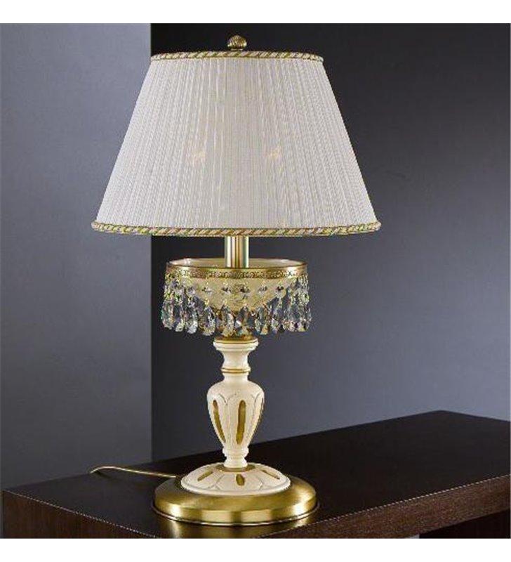 Lampa nocna z drewnem Trapani włoska