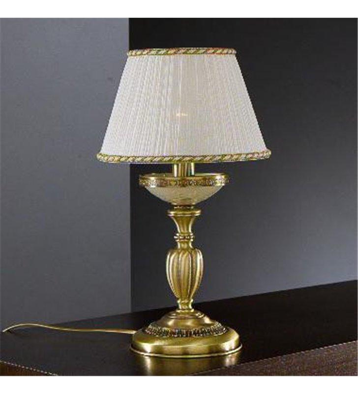 Lampa stołowa Chieti klasyczna włoska kolor mosiądz