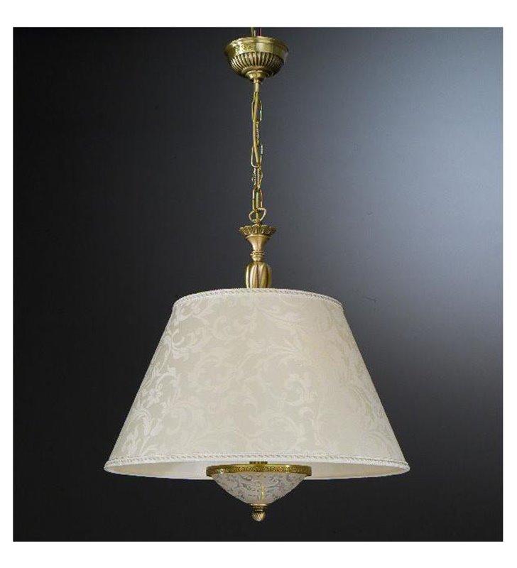 Stylowa lampa wisząca Matera abażur ecru