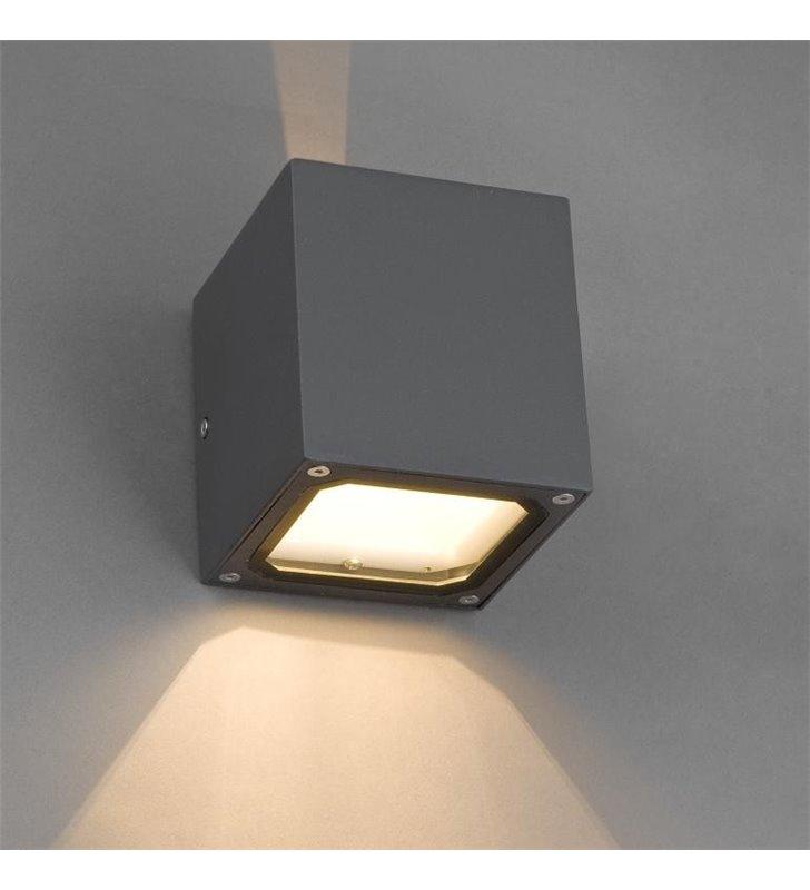 Lampa ogrodowa elewacyjna Khumbu grafitowa kostka IP44