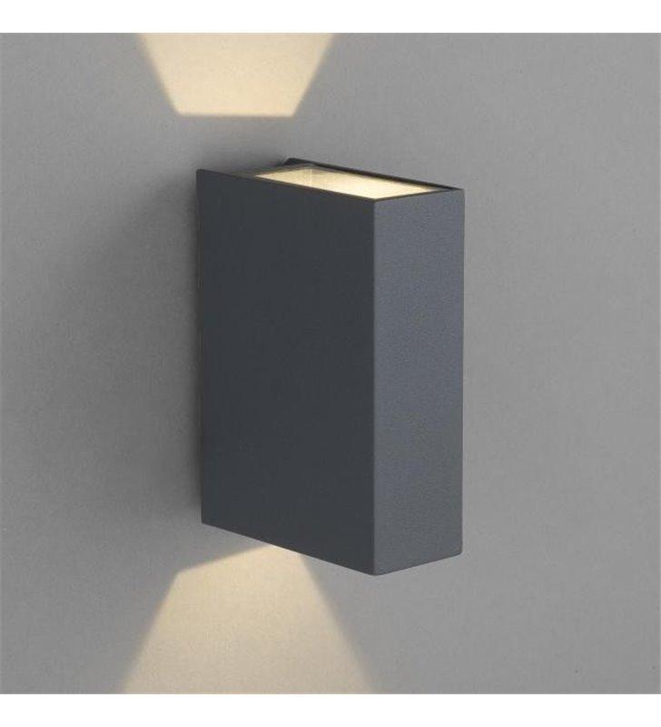 Lampa ogrodowa Dras nowoczesna grafitowa LED