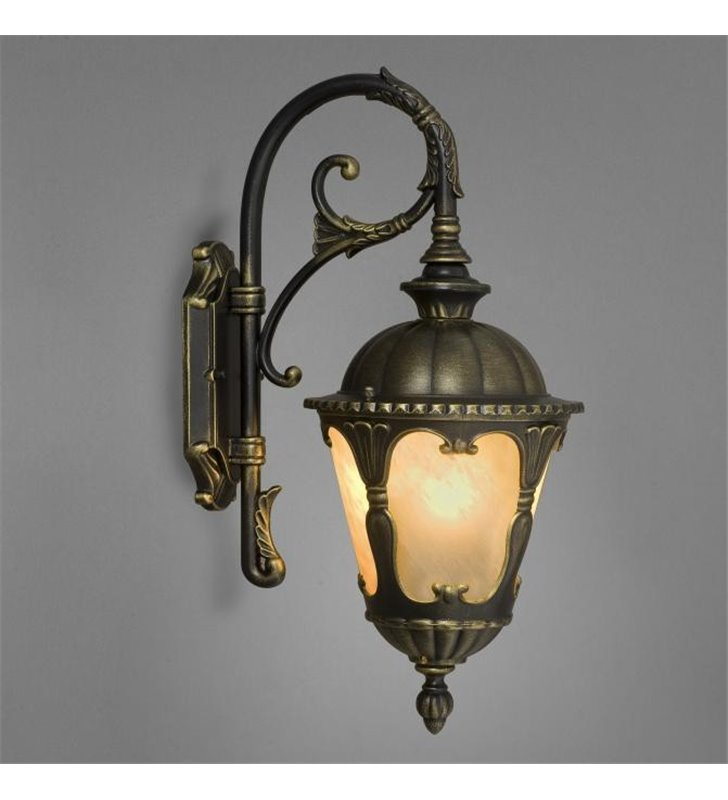 Zewnętrzny kinkiet ogrodowy Tybr klasyczna latarenka