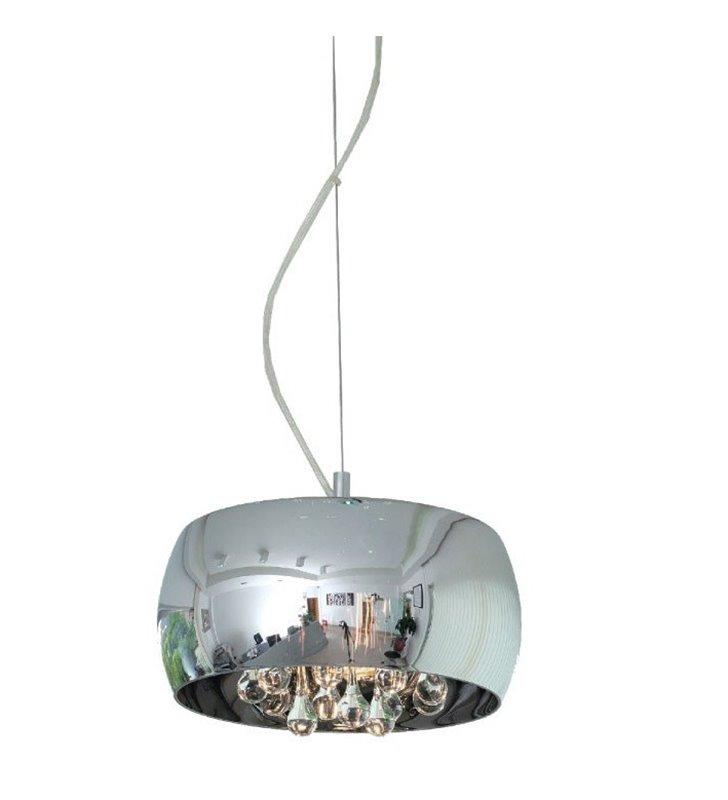 Lampa wisząca Crystal szklany klosz z kryształkami średnica 28cm