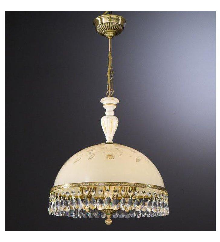 Kuchenna lampa wisząca z kryształami Arsizio mosiądz