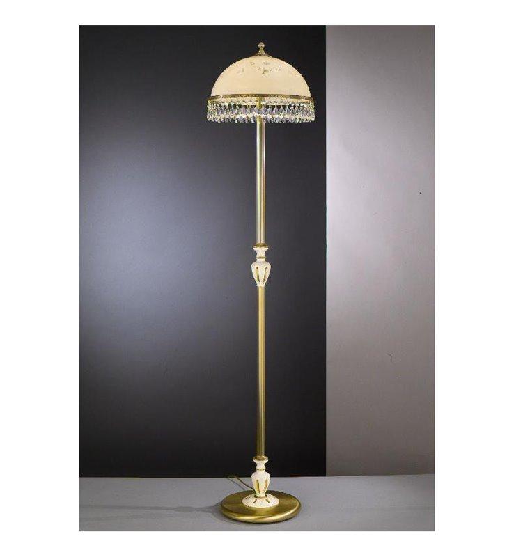 Ekskluzywna lampa podłogowa Arsizio mosiądz