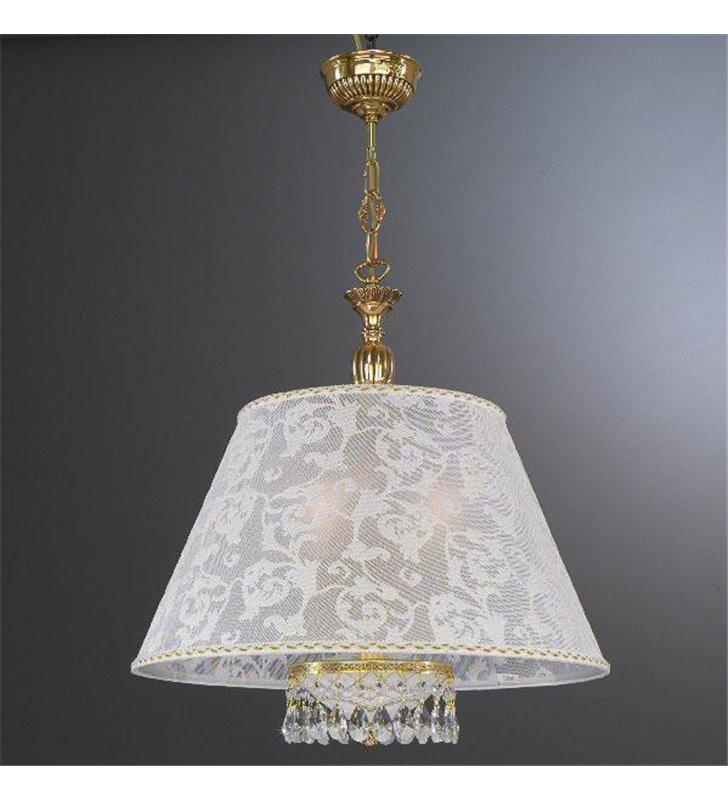 Stylowa włoska lampa wisząca Wenecja Złoto dekoracyjny abażur złote wykończenie
