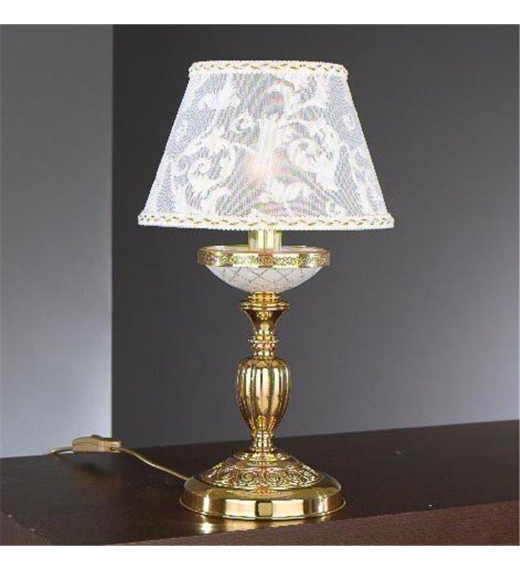 Złota lampa stołowa nocna Taranto