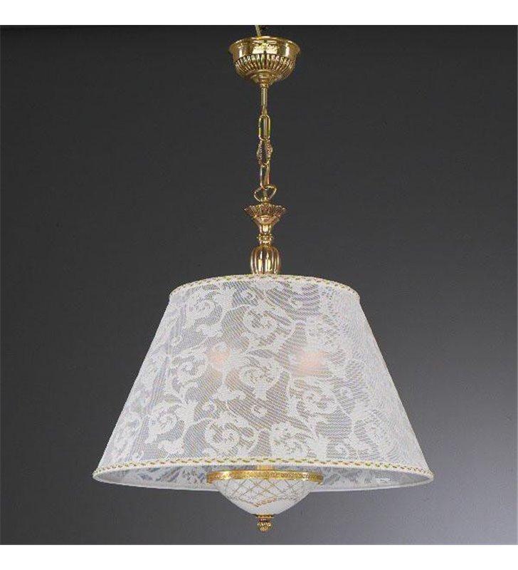Lampa wisząca Taranto abażur biały