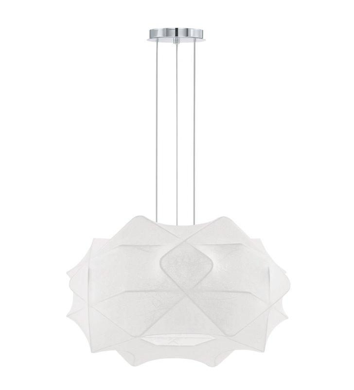 Lampa wisząca Segada duża biała nowoczesna z elastycznego materiału do salonu sypialni jadalni - OD RĘKI