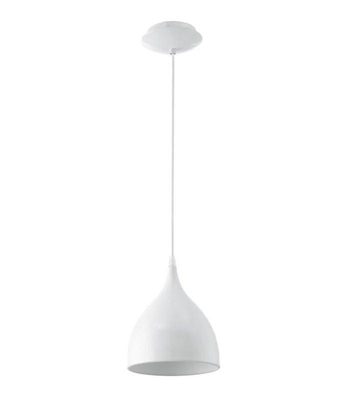 Lampa wisząca Coretto biała nowoczesna metalowa - DOSTĘPNA OD RĘKI