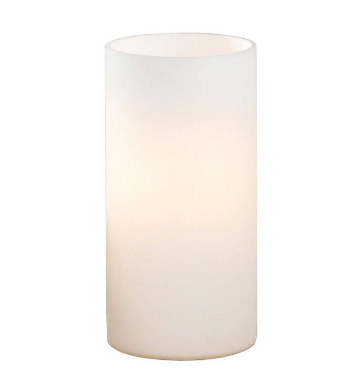 Mała lampa stołowa Geo cała szklana opal mat