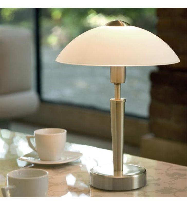 Lampa stołowa gabinetowa Solo1 kolor mosiądz z włącznikiem dotykowym