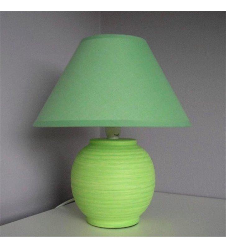 Zielona lampa stołowa Sarno ceramiczna podstawa- DOSTĘPNA OD RĘKI