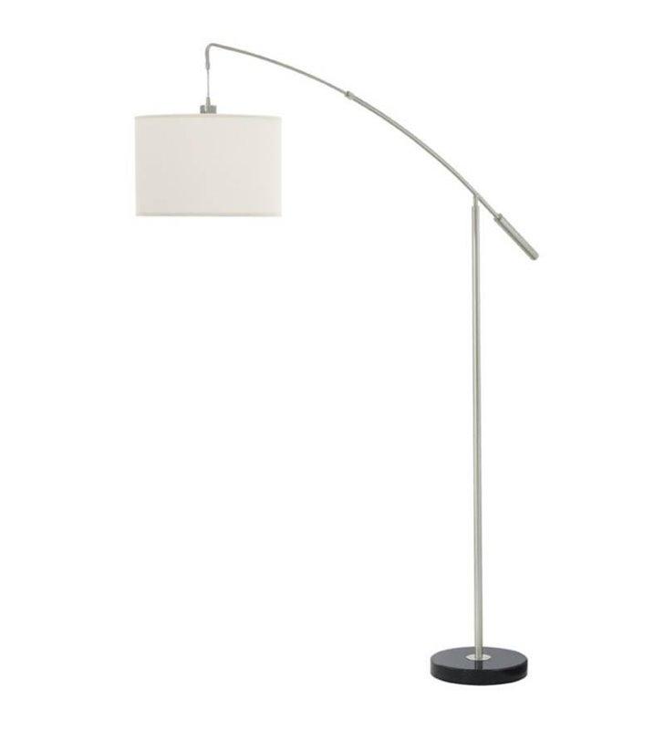 Lampa podłogowa Nadina biały abażur na wysięgniku