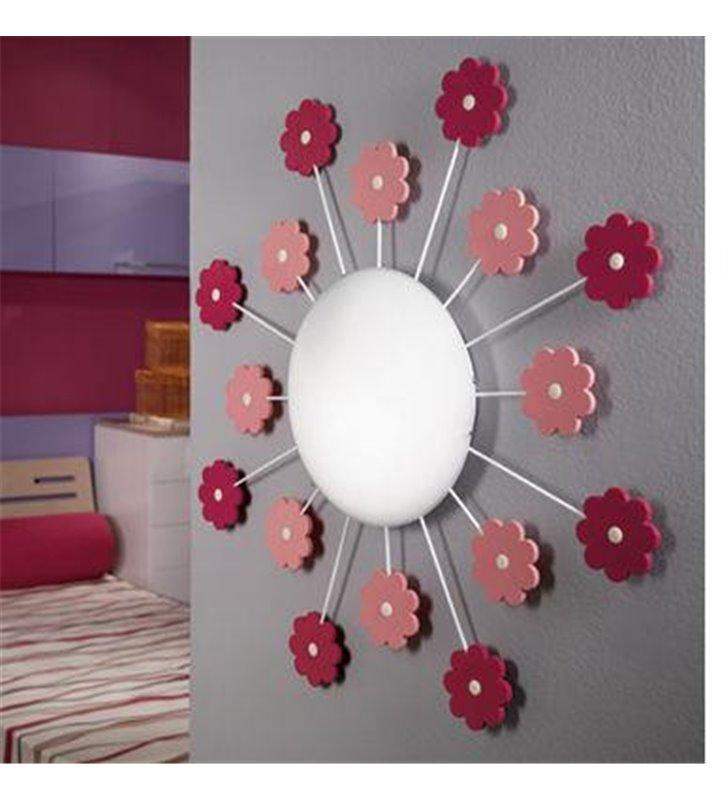 Kinkiet Viki1 do pokoju małej dziewczynki z różowymi kwiatuszkami