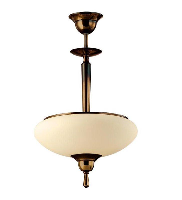 Lampa wisząca Agat patyna mat stylowa