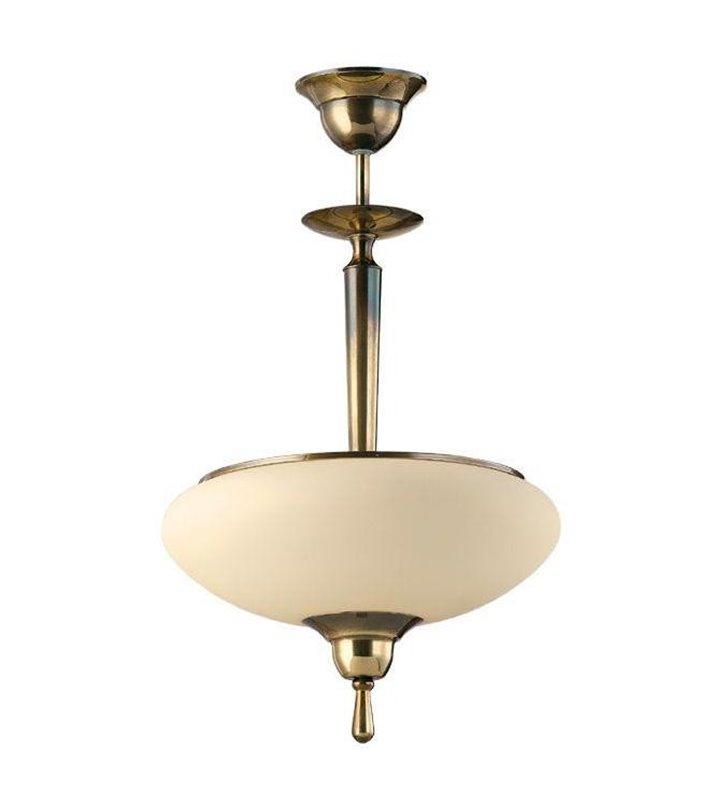 Stylowa lampa wisząca Agat patyna połysk