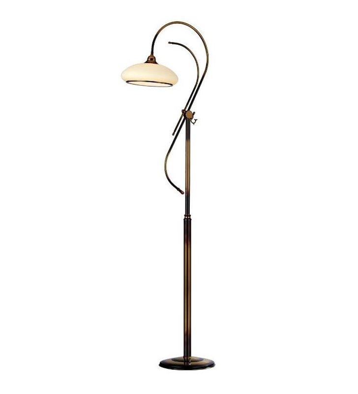 Lampa podłogowa Agat stylowa patyna mat