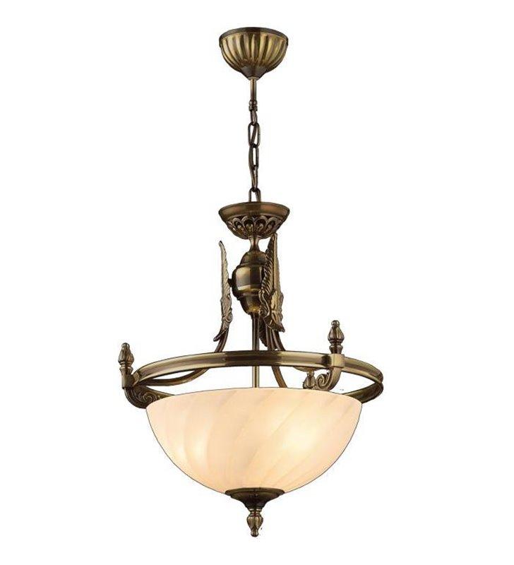 Klasyczna stylowa lampa wisząca Cordoba II kolor patyna połysk wykonana z mosiądzu wysoka jakość