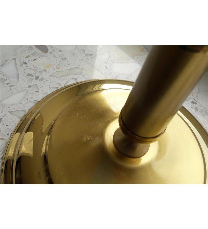 Stylowa lampa stołowa na komodę stolik nocny do salonu sypialni Onyx Opal złota klosz ecru - DOSTĘPNA OD RĘKI