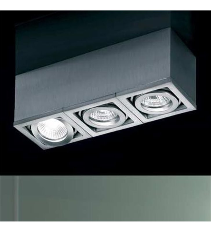 Lampa sufitowa downlight potrójna Axena aluminium - DOSTĘPNA OD RĘKI
