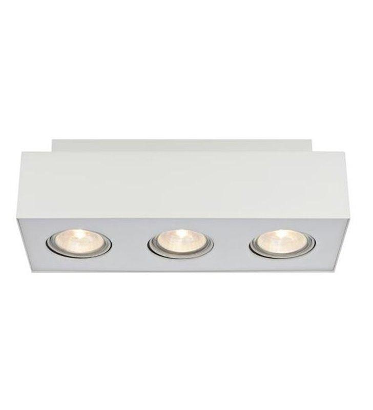 Lampa sufitowa downlight potrójna biała Valbo - DOSTĘPNA OD RĘKI